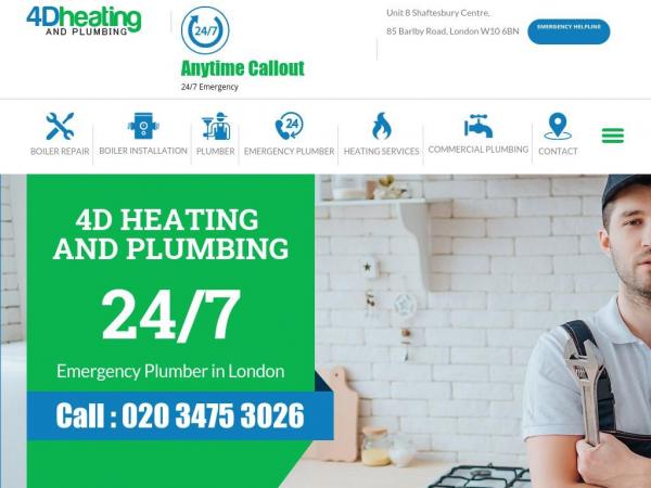 4dheatingandplumbing.co.uk