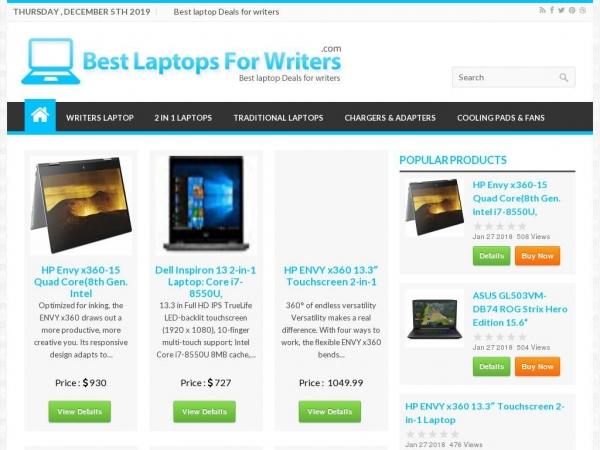 bestlaptopsforwriters.com