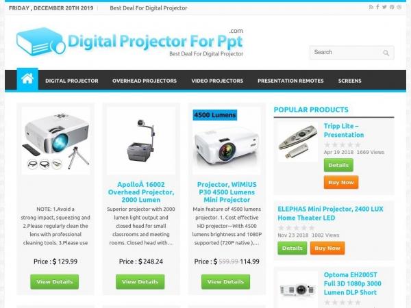 digitalprojectorforppt.com