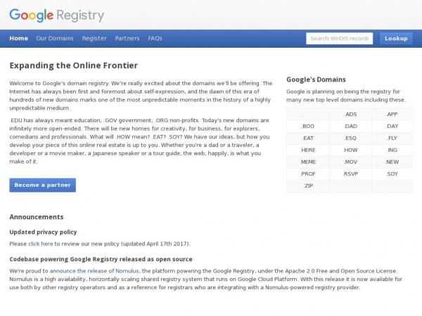 registry.google