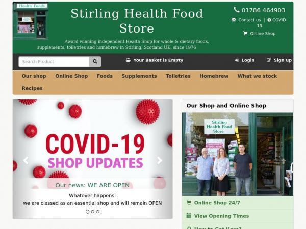 stirlinghealthfoodstore.co.uk